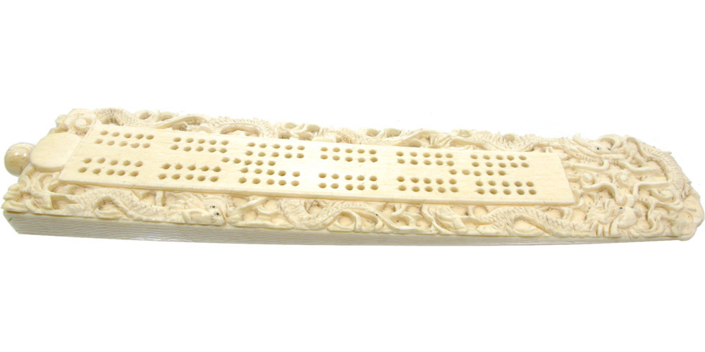 Chinese Carved Bone Cribbage Board Antique Cribbage Boards Antique Games