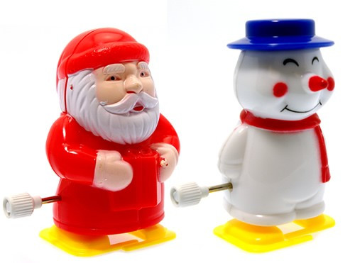 Clockwork Santa & Snowman Pencil Sharpener