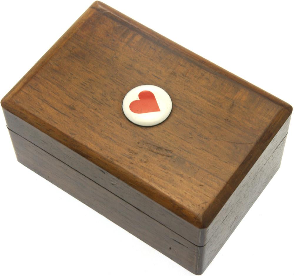 Wooden miniature card box