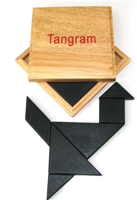 Wooden Tangram in Case