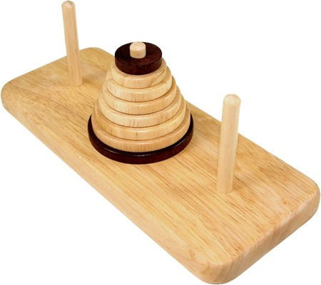 Wooden Tower of Hanoi 9 Ring