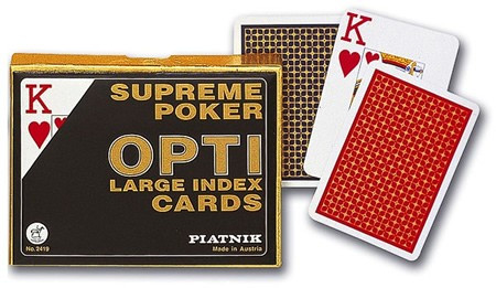Piatnik Opti Poker Size Double Card Decks