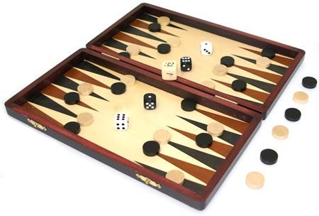 Wooden Folding Backgammon