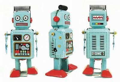 Blue Radar Robot