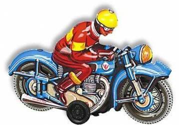 Blue Motorbike