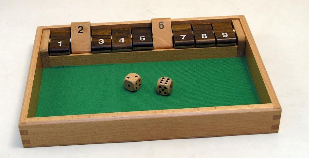 Deluxe wooden shut the box 9
