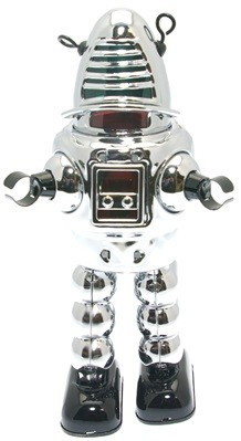 """Chrome"" Sparking Space Robot"