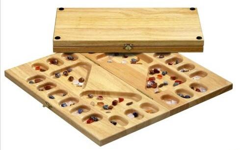 Kalaha / Mancala game 4 player with Gem stones