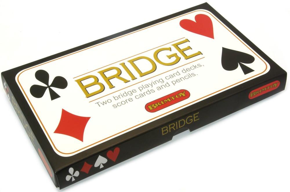 Bridge card game set