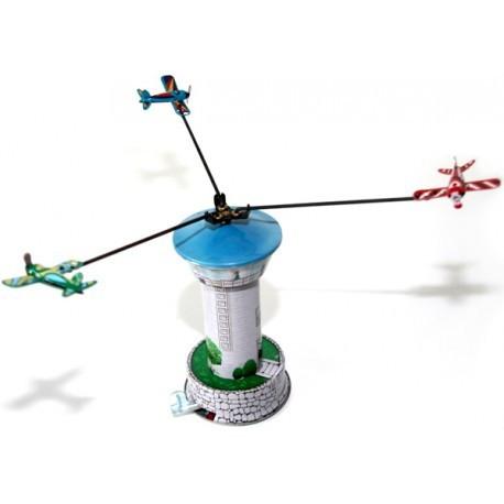 Airport Control Tower - Tin Toy / retro / clockwork fairground toy