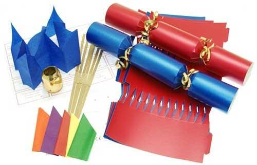 Deluxe Christmas Cracker Kit 35cm - Red & Blue - 10 Pack