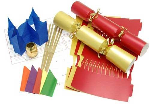 Deluxe Christmas Cracker Kit 35cm - Red & Gold - 10 Pack