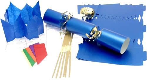 Deluxe Christmas Cracker Kit  35cm - Blue - 10 Pack