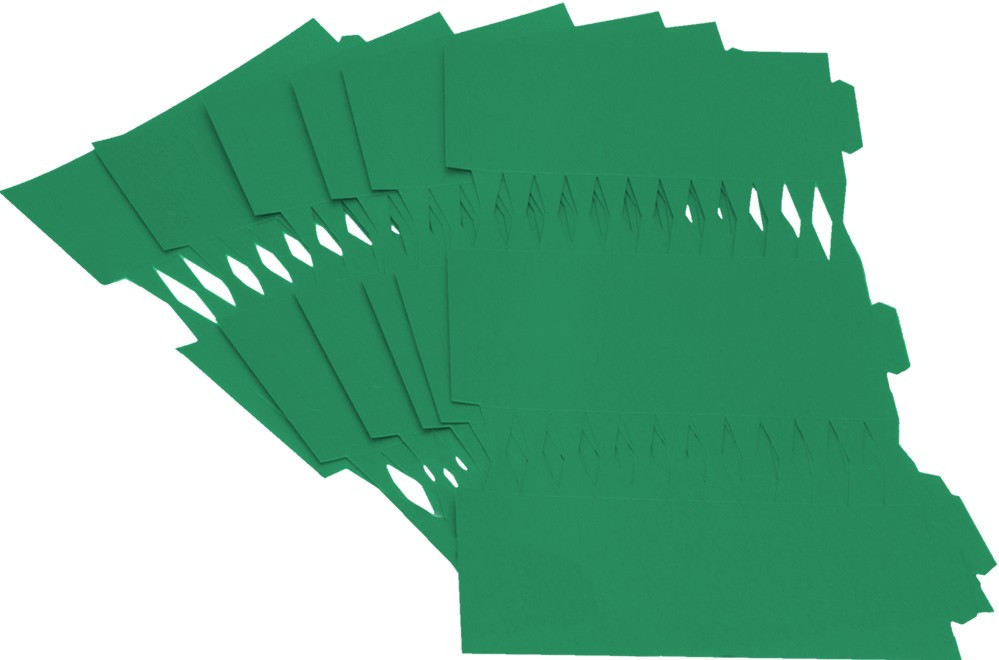 Cracker Kit Card Blanks 35cm - Green - 6 Pack