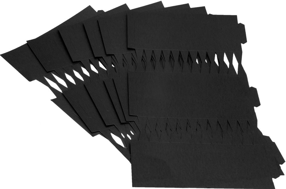 Cracker Kit Card Blanks 35cm - Black - 6 Pack