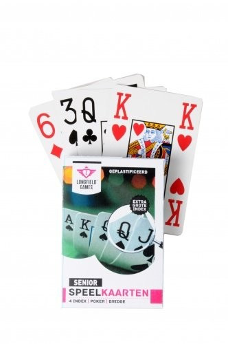 SENIOR Large Index single pack playing cards