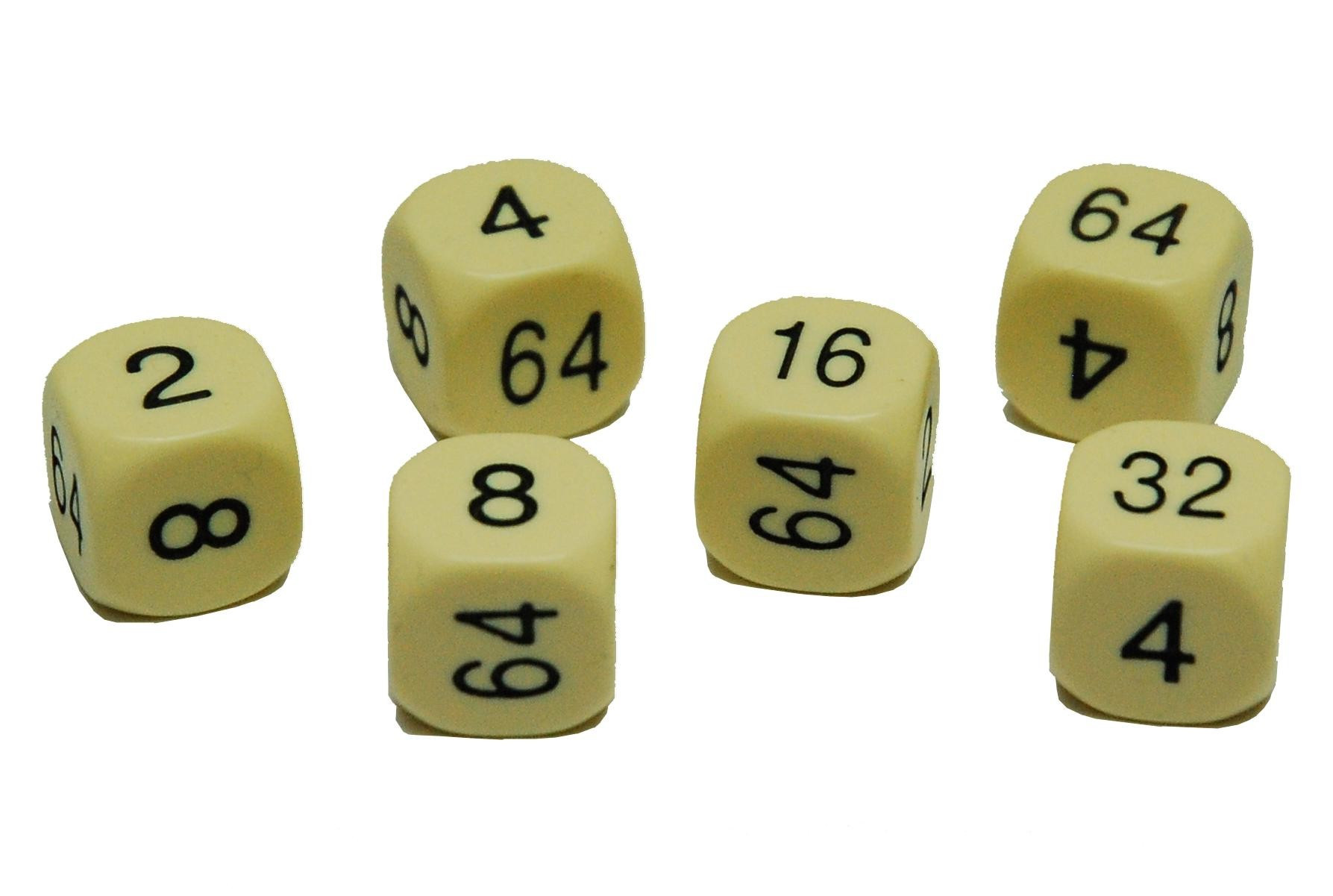 16mm spare Cream Urea doubling dice pack of 2