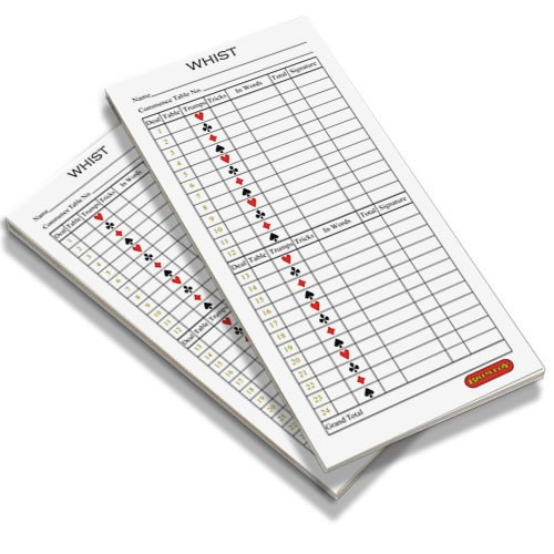Whist score pads / scoring cards (twin pack)