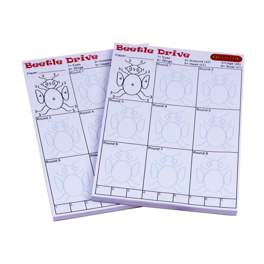 Beetle Drive score pads x2