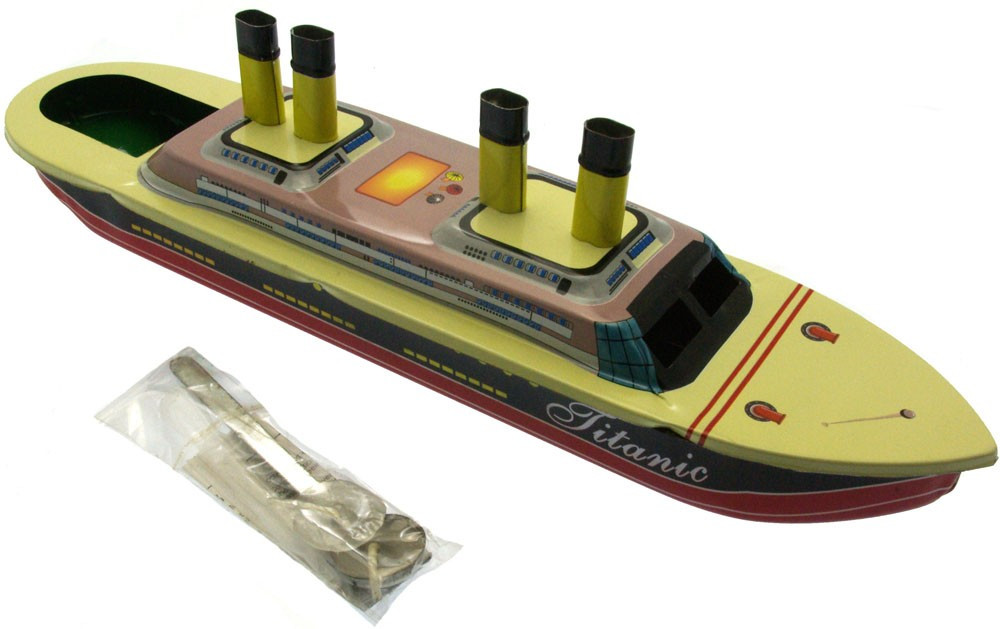 Titanic Pop Pop candle Boat