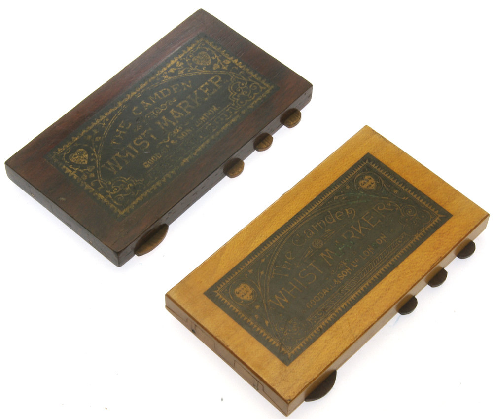 Pair Of contrasting Camden Whist Markers