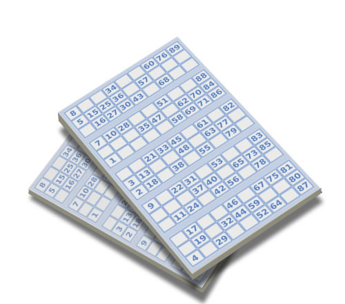 Pocket Bingo game replacement pads