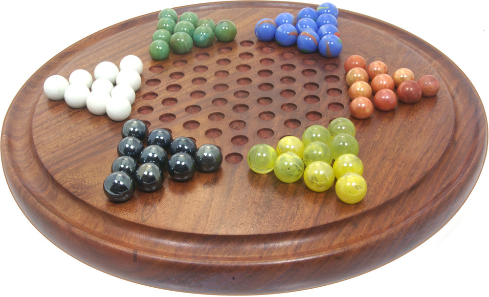 Wooden Chinese Checkers / Sternhalma game