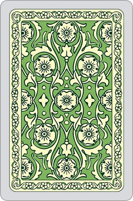 Autumn colours single card deck, green