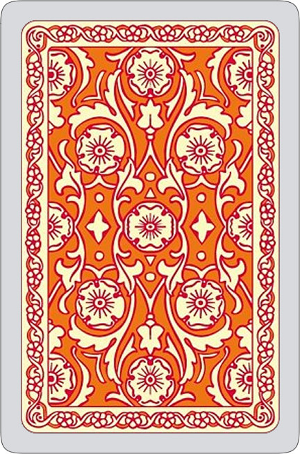 Autumn colours single card deck, orange
