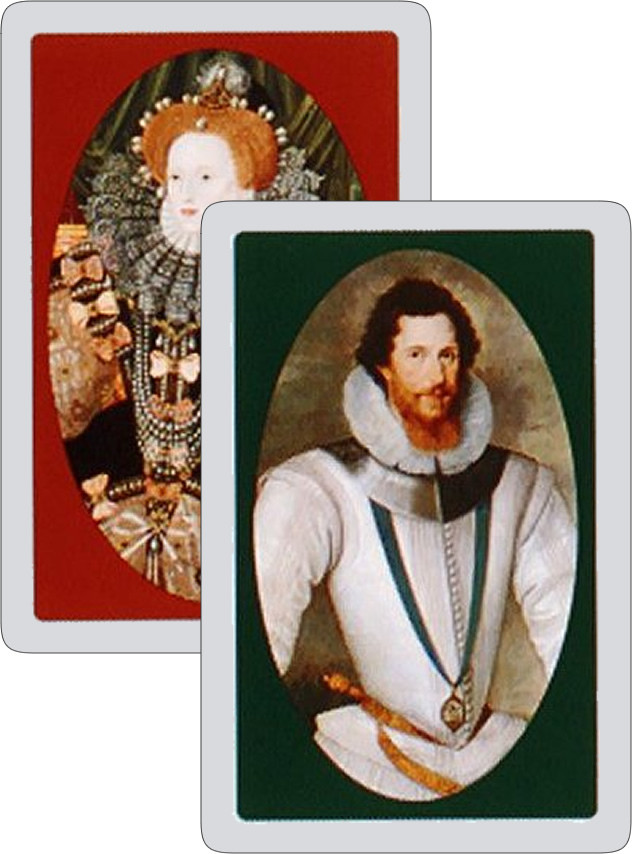 Earl of Essex and Queen Elizabeth 1 twin playing cards