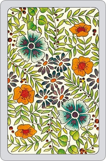 Summer flowers playing cards - cream