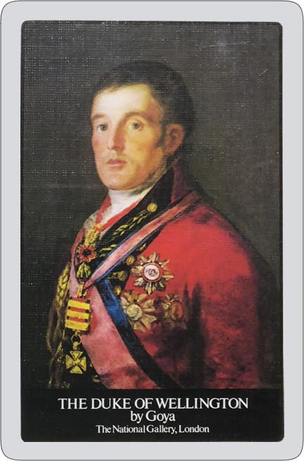 Duke of Wellington playing cards.
