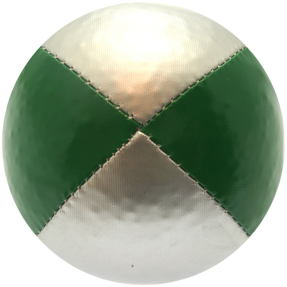 Green & Silver Juggling Ball