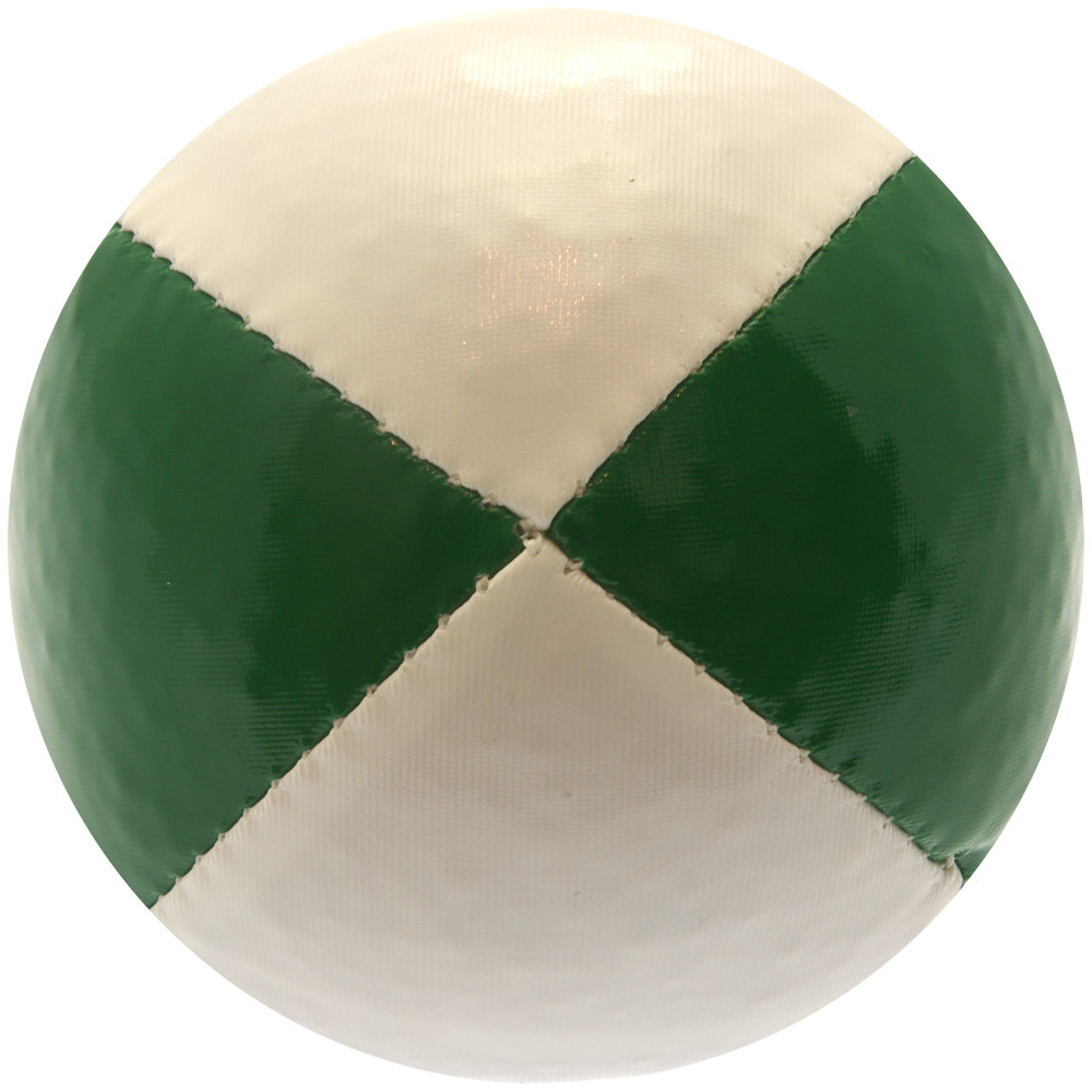 Green & White Juggling Ball