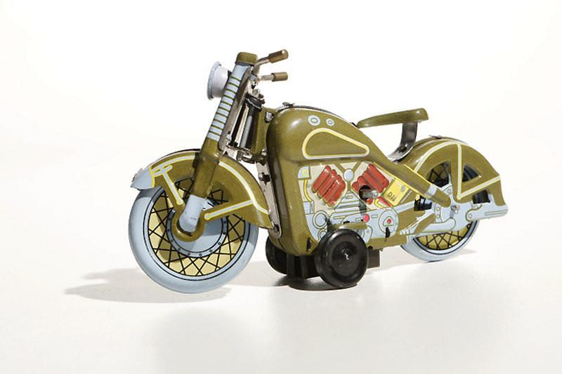 Green Harley Davidson Motorcycle
