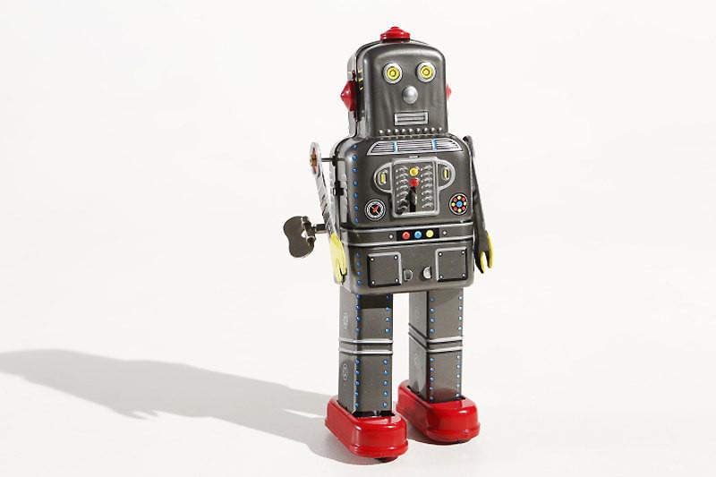 Grey Mechanical Space Man Robot