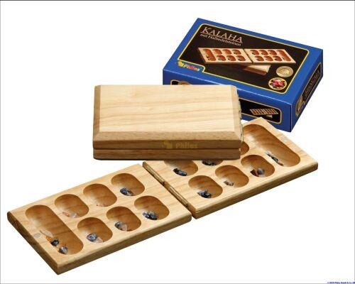 Wooden Folding travel games Kalaha / Mancala