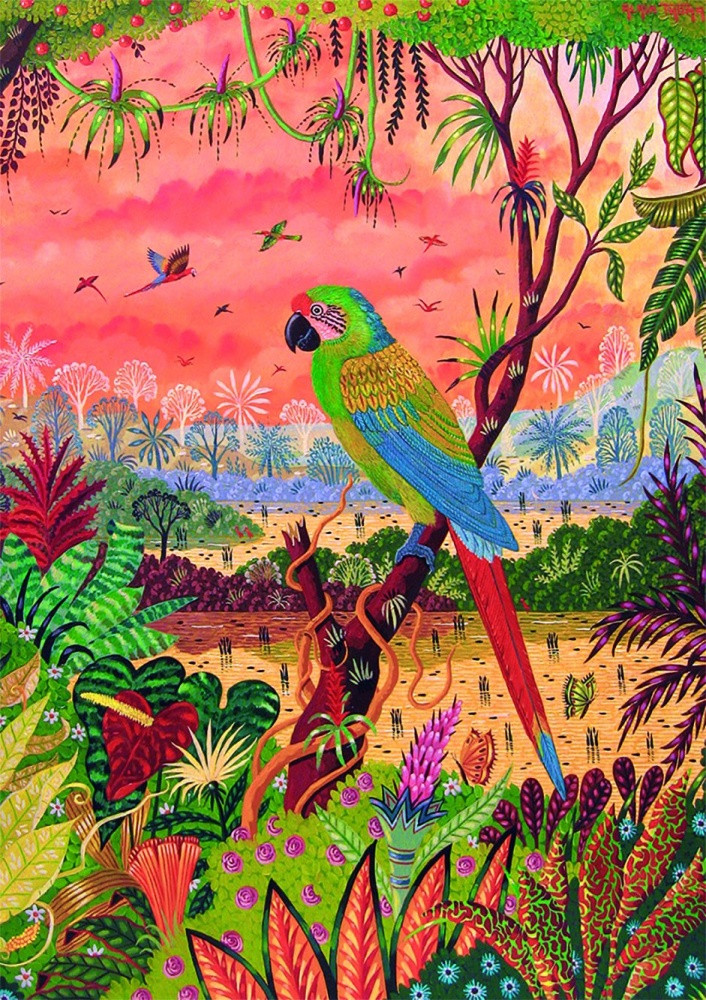 Great Green Macaw Puzzle