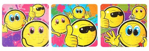 Mini Smile Face Jigsaw Puzzles - 6 Pack