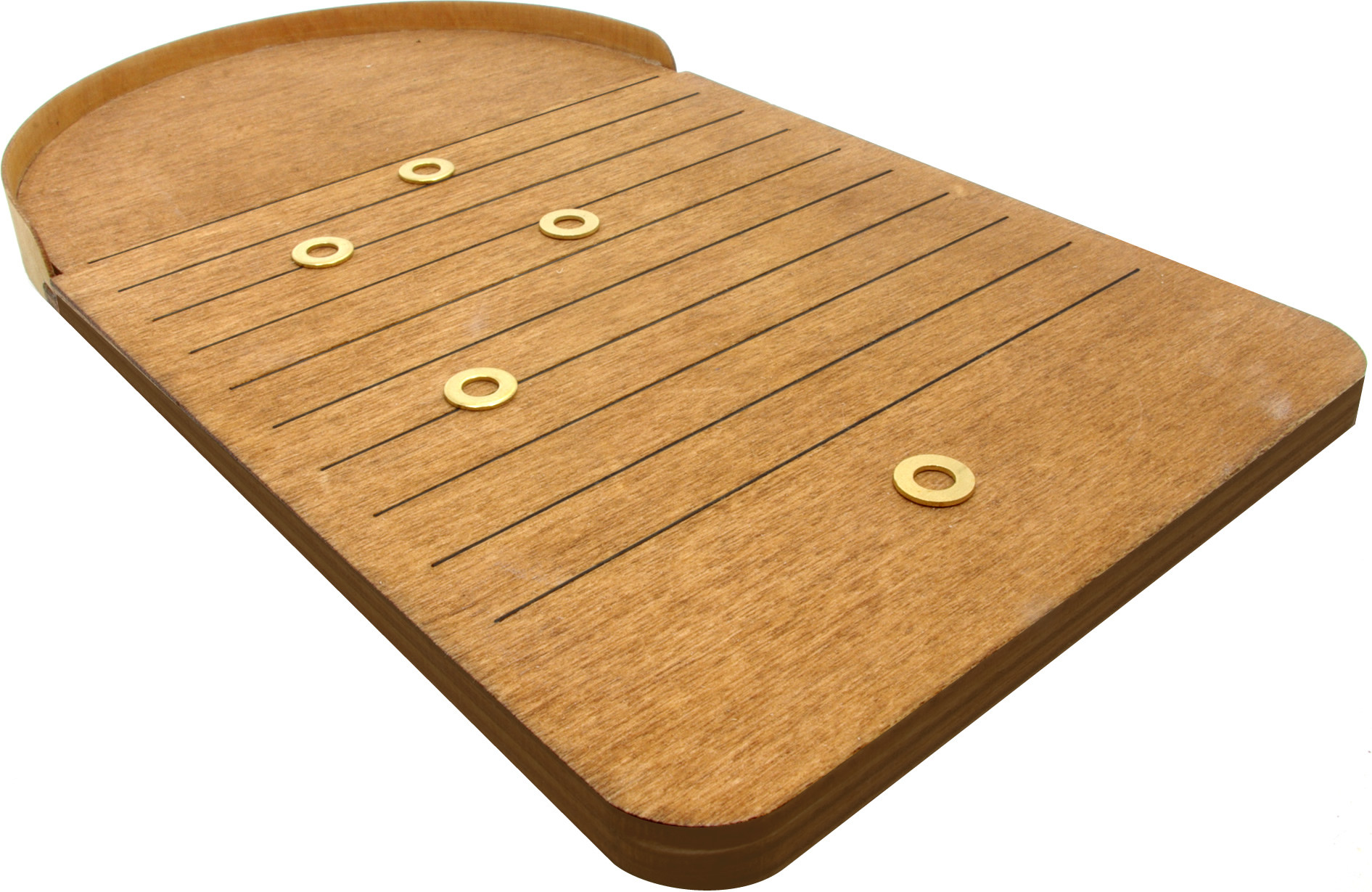 Miniature Wooden Shove ha'penny board