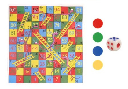Mini Snakes and Ladders - 6 pack