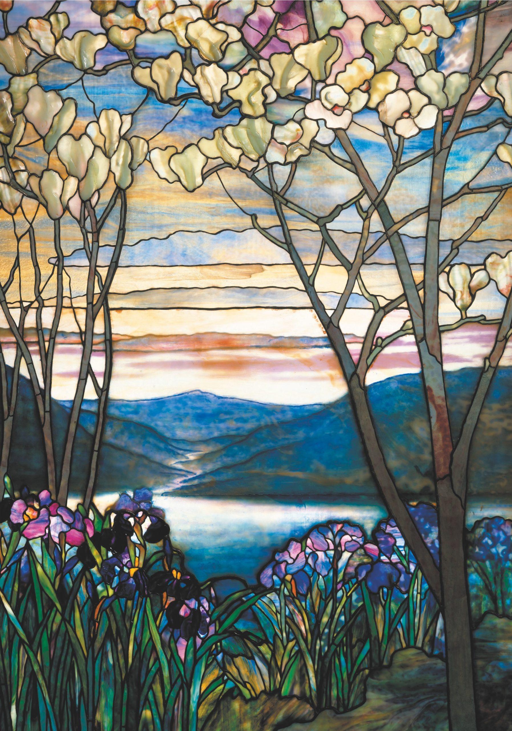 Tiffany Magnolia & Iris Puzzle