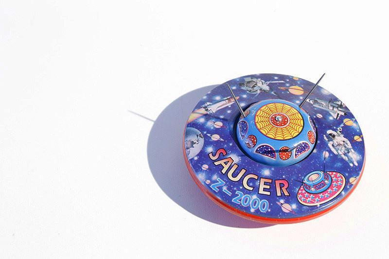 UFO Flying Saucer Blue