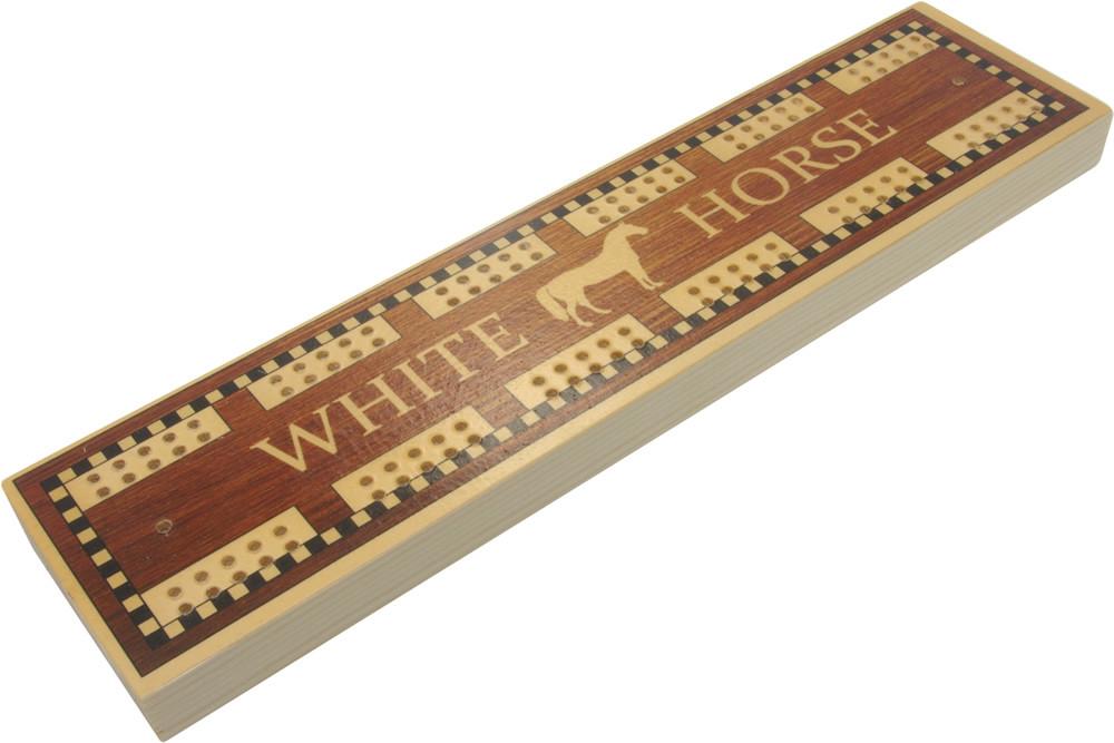 White Horse pub cribbage board