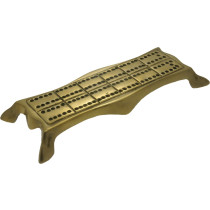 Ornate Brass shaped cribbage board