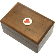Wooden miniature card box