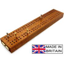 "Hardwood British cribbage board - 24cm (9"")"