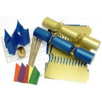 Deluxe Christmas Cracker Kit 35cm - Gold & Blue - 6 Pack