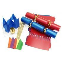 Deluxe Christmas Cracker Kit 35cm - Red & Blue - 6 Pack