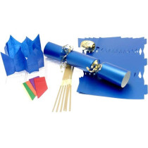 Deluxe Christmas Cracker Kit  35cm - Blue - 6 Pack